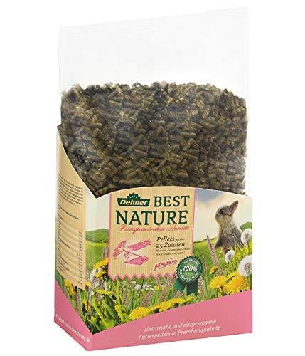 Dehner Best Nature Nagerfutter Junior, Zwergkaninchenfutter Pellets, 3 kg