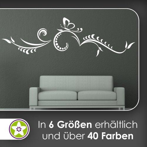 kleiner Schmmetterling - Tribal Wandtattoo in 6 Größen - Wandaufkleber Wall Sticker