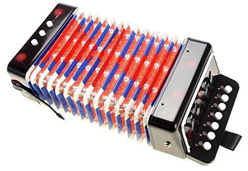 PowerTRC Children's Accordion   Musical Instrument   Easy to Learn Music   Kids Instrument   Black