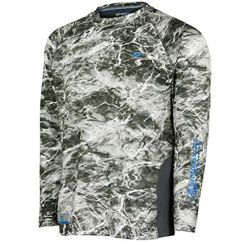 Mossy Oak Long Sleeve Fishing T-Shirts for Men, Sun Protection Clothing Men