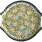 Polish Pottery - Oval Tray W/Handles - DU182 - The Polish Pottery Outlet