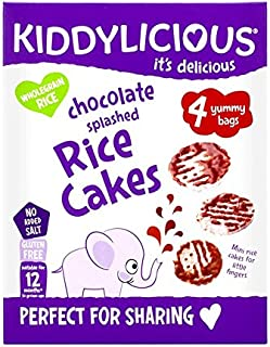 kiddylicious Chocolate Splashed rice 蛋糕,4 个装,总共 16 个