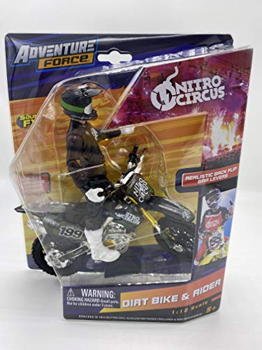 Adventure Force - Dirt Bike & Rider - Collect Them All to Complete Nitro Circus: Styles May Vary!!! (Black Bike)