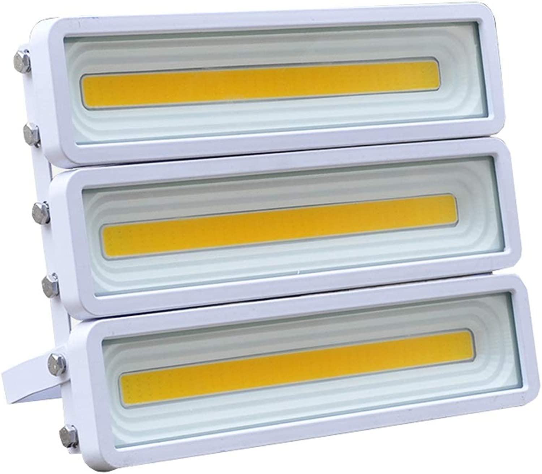 LED Strahler Mit,IP65 Wasserdicht,Super Hell Sicherheit Beleuchtung,Draussen Landschaft Scheinwerfer zum Hinterhof Garten Garagen Dachspitze Terrasse (Farbe   Warmes licht-150W)