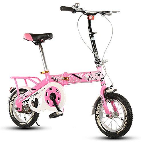 Bicicleta Plegable para niños, 12-14-16-20 Pulgadas para niños y niñas Bicicleta para...