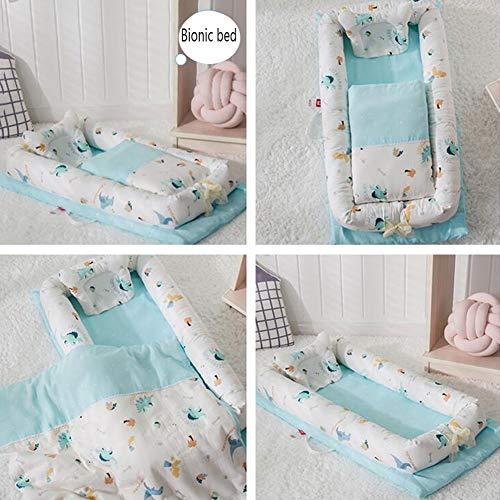 Babybettausstattung ZIXIANG Tragbar Falten Bionisches Bett Isolationsmatratze Kinderbett Mit Steppdecke Abnehmbar Kinderbett Neugeboren 20 Farbe (Color : T3)