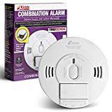 Kidde 21028499 DC Smoke and Carbon Monoxide Alarm Detector with TruSense Technology | Front Load Battery | Voice Notification | Model 2070-VDSCR, White