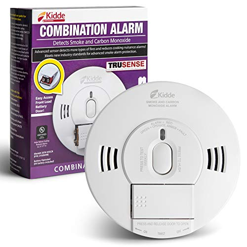 Kidde 21028499 DC Smoke and Carbon Monoxide Alarm Detector with TruSense Technology | Front Load Battery | Voice Notification | Model 2070VDSCR White