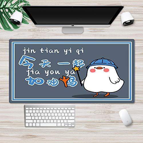 Azbza alfombrilla raton personalizada , Lema motivacional de patito de dibujos animados ( 700 x 300 x 3 mm ) - Alfombrilla de ratón gaming Alfombrilla de Ratón Grande Gaming Microfibras Alfombrilla Ba