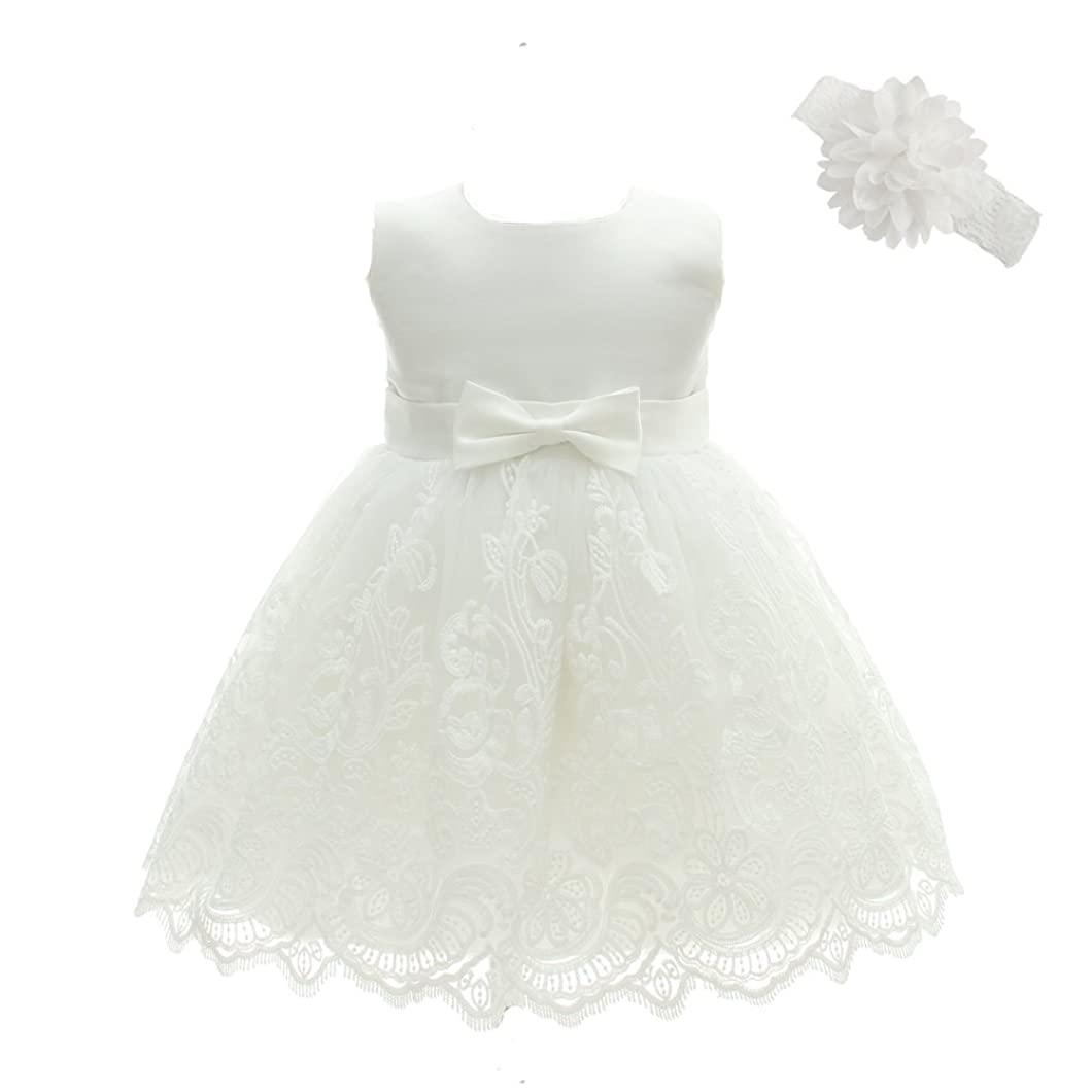 Moon Kitty Baby Girls Embroideries Baptism Dresses Christening Special Occasions Gown for Baby Girl ptowksk42