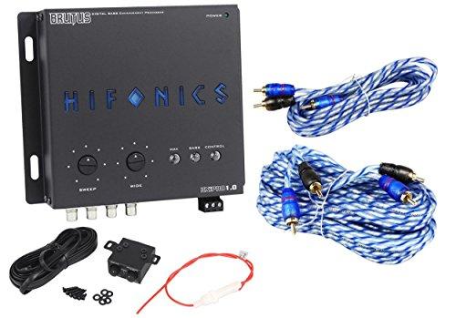 Hifonics BXIPRO1.0 Digital Bass Equalizer Sub Processor + 17'& 6' RCA Cables