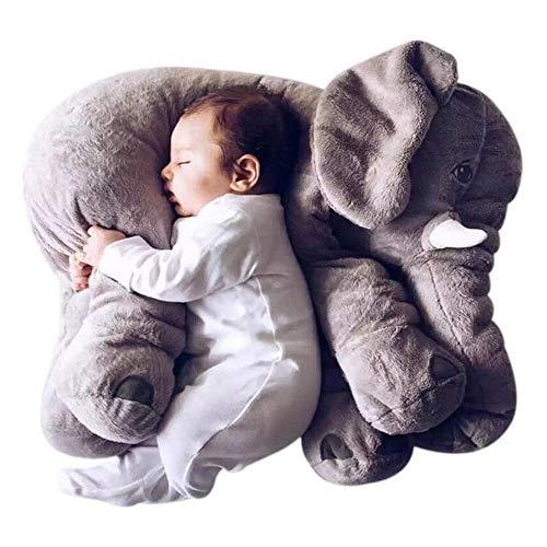 ZYQZYQ Accompany Back Cushion Cute Stuffed Elephant Height Doll Toy Kids Sleeping Elephant Doll Xmas Gift For Children,Grey