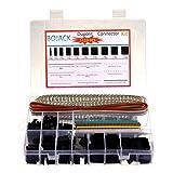 BOJACK 1113 pcs Dupont Conector Kit Incluir 2.54 mm Macho y hembra Crimpadora Pins y Conector Carcasa y 40 Pin Color Single fila Pin Cabecera y una sola fila ángulo recto Pin Encabezado
