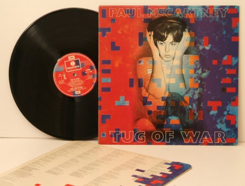 PAUL MCCARTNEY, tug of war. Top copy. First UK pressing. 1982. Record label: Parlophone