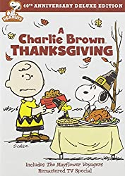 Charlie Brown Thanksgiving DVD cover with charlie brown and snoopy