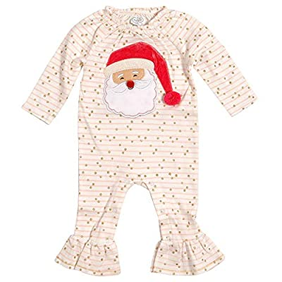 Mud Pie Kids Baby Girls Santa Glitter All The Way Christmas 1 Pc Set 9-12 Months