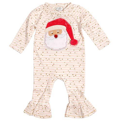 Mud Pie Kids Baby Girls Santa Glitter All The Way Christmas 1 Pc Set 3-6 Months