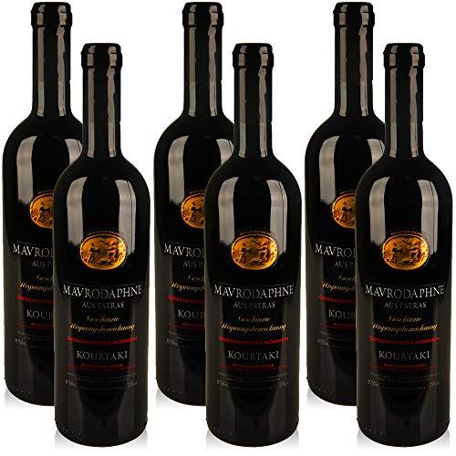 6 Flaschen Kourtaki Mavrodaphne aus Patras, süsser Rotwein aus Griechenland (6x 0,75 l)