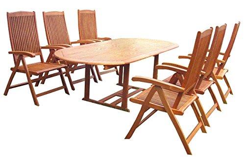 KMH mbH KMH®, Gartensitzgruppe aus wetterfestem FSC-zertifiziertem Eukalyptusholz/Sitzgruppe (#101160)