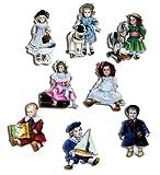 Kühlschrankmagnete Nostalgie Magnete für Magnettafel Kinder stark 8er Set lustig mit Motiv Vintage...