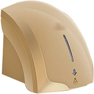 Mini Electric Hand Dryer, Wall Hand Dryers Automatic Hygienic And Very Space-Saving ABS Plastic Tray High Speed,Gold