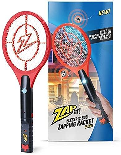 Zap It Bug Zapper Rechargeable Bug Zapper Racket, 4,000 Volt, USB Charging Cable
