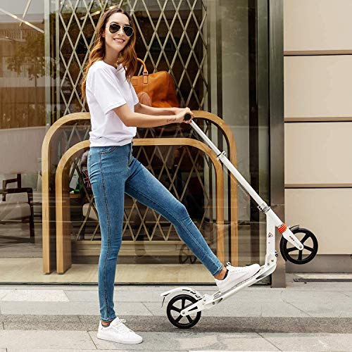 Patinete para adultos plegable con ruedas grandes, Freestyle Patinete niño con 3 alturas ajustables
