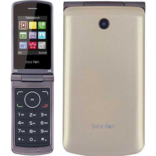 Beafon C240_EU001C Mobiltelefon (Dual SIM, TFT Farbdisplay, QVGA Kamera, Bluetooth, 6,09 cm (2,4 Zoll Champagne