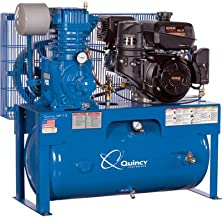 Quincy QP-7.5 Pressure Lubricated Reciprocating Air Compressor - 14 HP Kohler Gas Engine, 30-Gallon Horizontal, Model Number G314K30HCE