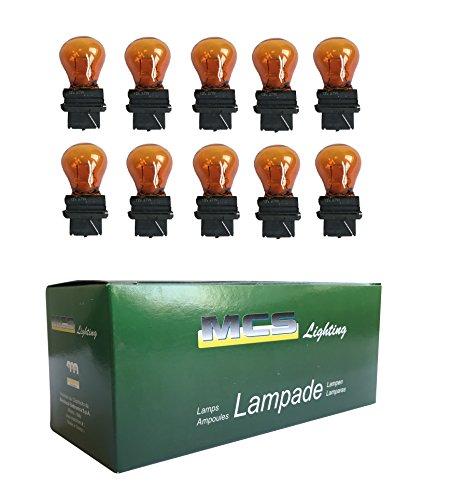 Melchioni 322199940 Lampe 12 V 27 W 5 G25, ambre, Lot de 10