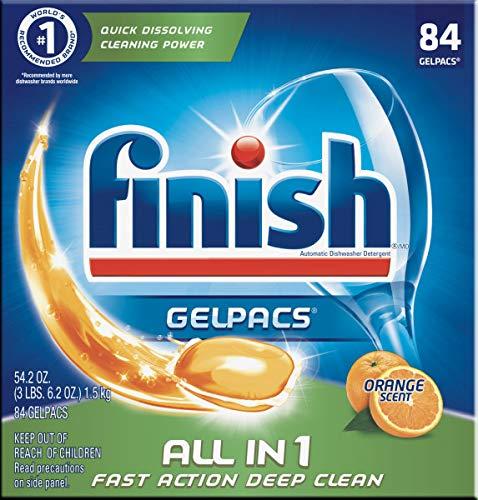 Finish All in 1 Gelpacs Orange, Dishwasher Detergent Tablets 84 ea