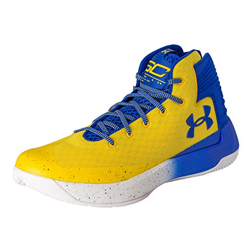 Under Armour Men's Curry 3 Basketball Shoe (Taxi/Royal Blue/Royal Blue)