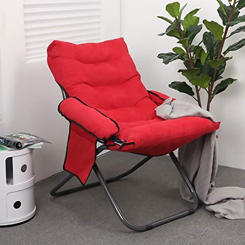 Fengyj Plegado Almuerzo Rotura Silla, Silla De La Computadora Silla Lazy Desmontable Portable Conveniente,Rojo