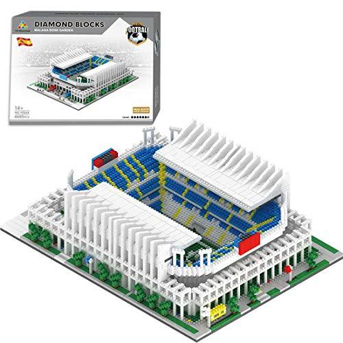 HZYM Arquitectura de campo de fútbol, 4685 piezas, minibloques de Portugal, estadio de fútbol, juego de construcción de arquitectura, modelo de arquitectura, no compatible con Lego