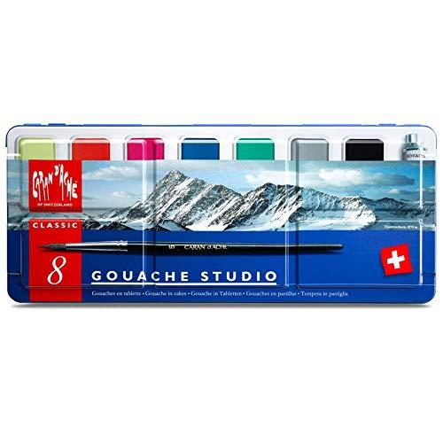 CREATIVE ART MATERIALS Caran D'ache Gouache Studio, 8 Pans (1000.308)