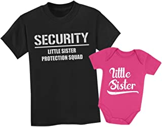 Big Brother & Little Sister Siblings Set - Security For My Little Sister Shirts