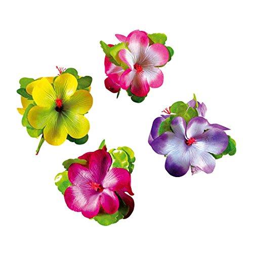 NET TOYS Haar Clip Hibiskus Hawaii Haarschmuck Damen Karibik Hibiskusblüte Kostüm Zubehör Schmuck Blumenschmuck