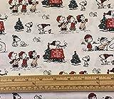 Fat Quarter Quilt-Stoff mit Weihnachts-Erdnüssen, Snoopy,