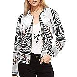 INTERESTPRINT All Seeing Eye Pyramid Symbol Women's Stand Collar Long Sleeve Zipper Bomber Jacket XL from INTERESTPRINT