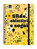 Finocam 748000221-Agenda 2021 Settimanale con rilegatura a Spriale Design Collection Sfide Italiano - 161 x 212 mm