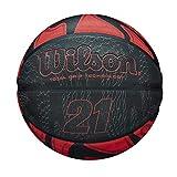 Wilson WTB2103XB07 Balón de Baloncesto, 21 Series, Tamaño 7, Cubierta de Goma