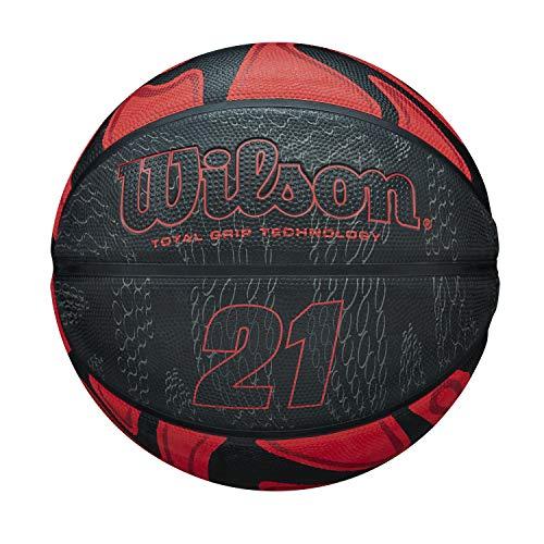 Wilson 21 Series, WTB2103XB07 Pallone da Basket, Taglia 7, Rivestimento in Gomma