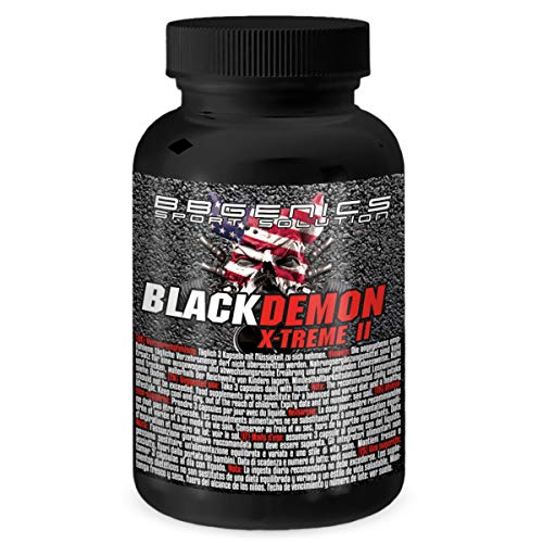 Testo Booster auf NO2-Basis by BBGENICS - BlackDemon X-Treme II, Anaboles Muskelaufbau-Supplement, original US-Rezeptur, 60 Kapseln
