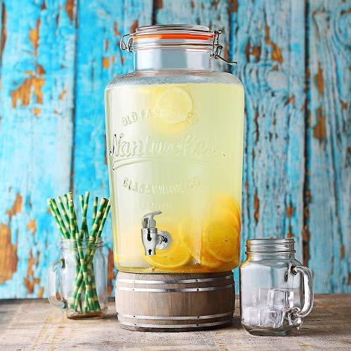 Nantucket Distributeur de boissons à robinet 8 Litres ,parfait pour servir du Vin,Jus,Eau,Champagne et autres boissons froide