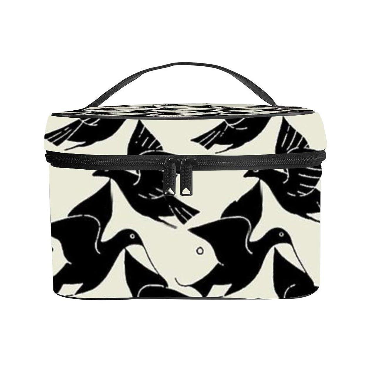 素晴らしきによってバッグ化粧ポーチ 化粧ケース メイクアップケース コスメポーチ 魚 鳥 コスメバッグ メイクポーチ 化粧ボックス メイクボックス メイクケース トラベルポーチ