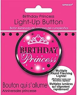 Adult Birthday Princess Flashing Button