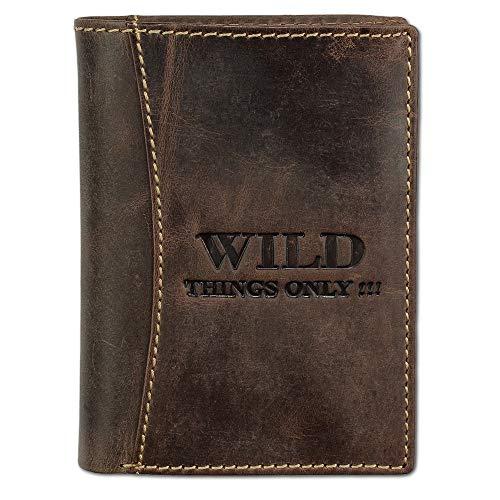 SilberDream DrachenLeder Unisex Brieftasche Geldbörse braun Leder 12.5x2x9.5cm OPJ100N Leder Portemonnaie