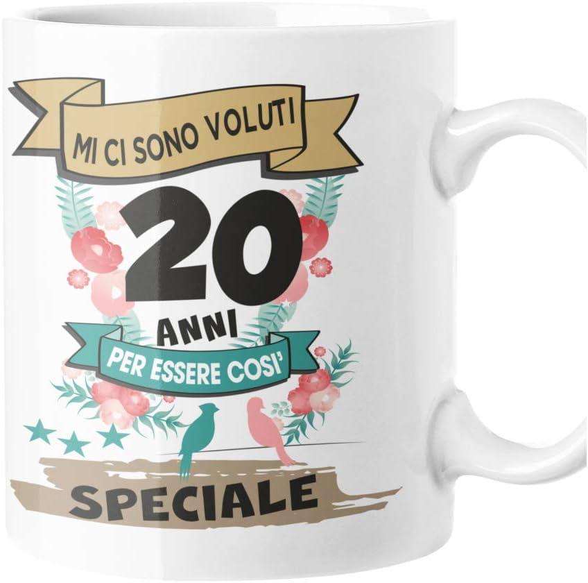 fashwork Taza de cumpleaños de 18 años, 20 años, 30 años, 40 años, 50 años, 60 años, 70 años, regalo divertido original para hombre y mujer 20 años S
