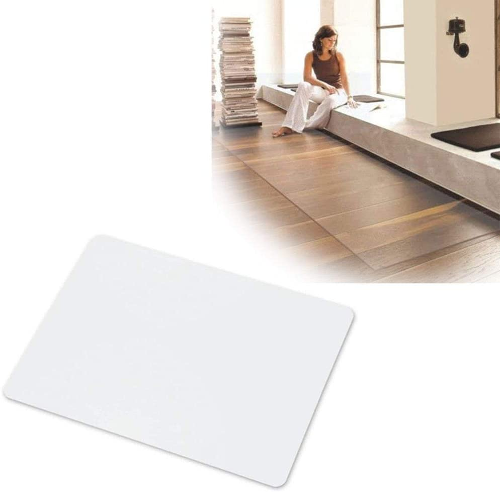 Limited price Rectangle OFFer Office Chair Mat Plastic Protector of Clear Hardw