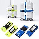 Mture Koffergurt, Gepäckgurt 4 Stück Einstellbare Kofferband Hochwertige Lange Koffergurte zum Sicheren Verschließen der Koffers auf Reisen und Kennzeichnen von Gepäck